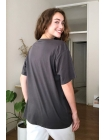 Antrasit rəngli qadın T-shirt futbolka