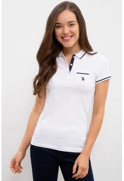 Женская футболка US Polo Assn белого цвета