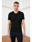 Обтягивающая мужская футболка черного цвета