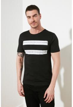 Мужская футболка темно-серого цвета