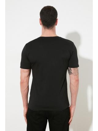 T-shirt futbolka kişi üçün tünd boz rəngdə