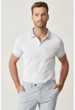 Мужская футболка Polo Altınyıldız Classics белого цвета