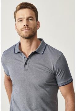 Мужская футболка Polo Altınyıldız Classics серого цвета