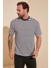 Маечка футболка для мужчины полосатого черно-белого цвета