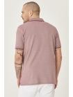 Kişi Altınyıldız Classics T-shirt bordo rəngdə polo yaxalı