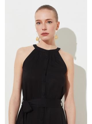Женское платье Trendyolmilla из вискозы с поясом и пуговицами