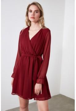 Бордовое шифоновое платье Trendyolmilla