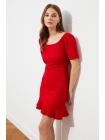 Платье Trendyolmilla красного цвета короткой формы