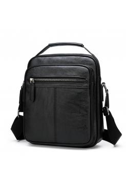 Черная сумка через плечо барсетка для парня