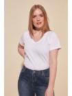 Белая футболка с короткими рукавами для девушки