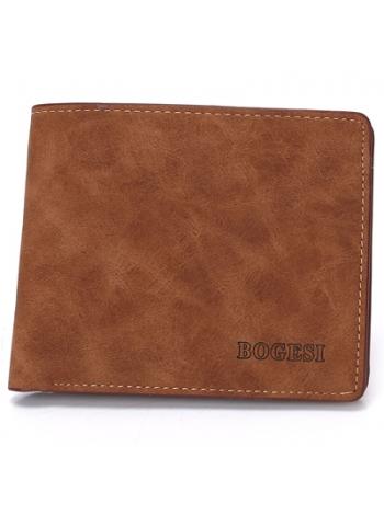 Мужской кошелек коричневого цвета из искусственной кожи