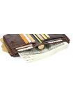 Мужской коричневый бумажник с цепью