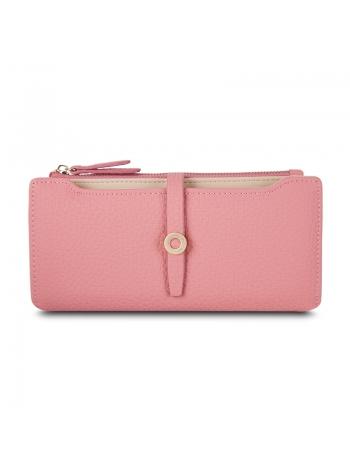 Классический женский кошелек розового цвета в Баку