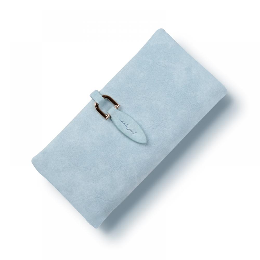Xanım üçün mavi pul qabı portmone
