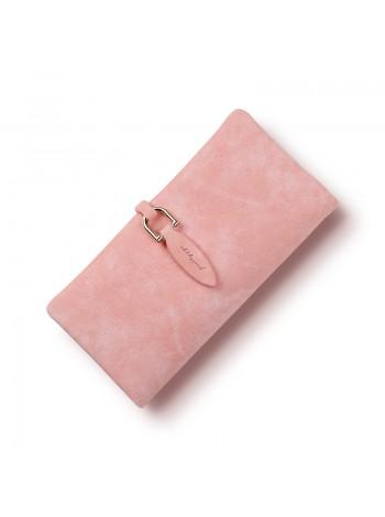 Светло розовый женский бумажник