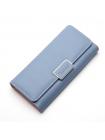 Женское длинное голубое портмоне
