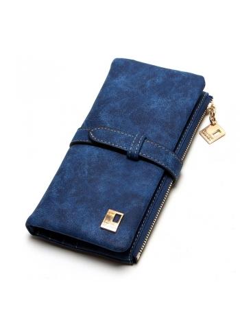 Женский голубой бумажник