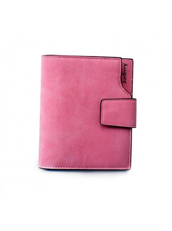 Розовый женский кошелек для девушки