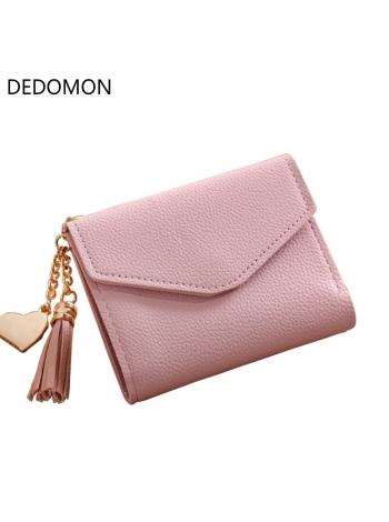 Женское портмоне розового цвета