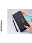 Женское портмоне клатч черного цвета