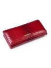 Длинный красный женский кошелек