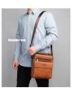 Мужская сумка через плечо из натуральной кожи