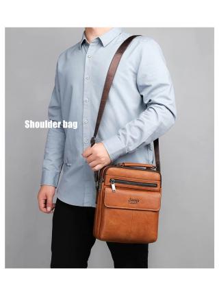 Kişi əl çantası təbii dəridən