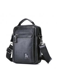 Черная сумка через плечо для мужчин