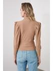 Светло-коричневая женская блузка Trendyolmilla с горлом водолазки
