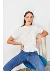Dik yaxalı dantelli Trendyolmilla qadın bluzu