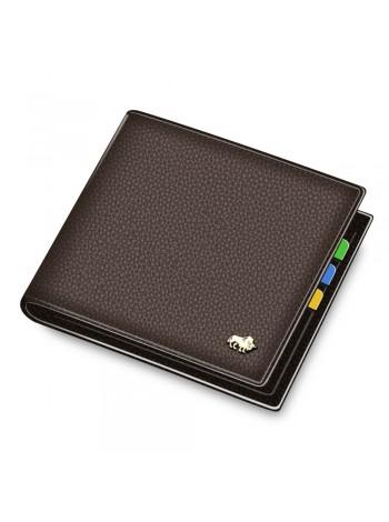 Мужской бумажник портмоне коричневого цвета